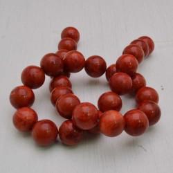 filo Madrepora Tondo ROSSO liscio 14 mm 29 pz per tuoi gioielli