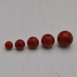 Madrepora SFUSE Tondo COL ROSSO liscio 6 MM - 16 mm per tuoi gioielli