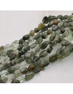 Pietre dure QUARZO FANTASMA  Sasso Burattato qualità di gioielli 5-9 mm filo 40cm