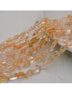 Pietre dure Quarzo citrino Sasso Burattato qualità di gioielli 5-9 mm filo 40cm