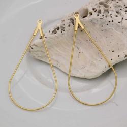 base orecchini a gocce sottili 23 x 46 mm spessore 0.7 mm IN OTTONE 1 Paia