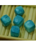 Pietra Semipreziosa Cubo 3D sfaccettato Turchese