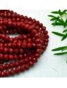 perline di cristallo cinese mezzi cristalli cipollotti 6 x 8 MM bordò 70 pz