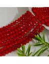 perline di cristallo cinese mezzi cristalli cipollotti 4.5 x 6 MM rosso pieno 90 pz