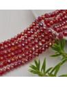 perline di cristallo cinese mezzi cristalli cipollotti 4.5 x 6 MM bordò AB 90 pz