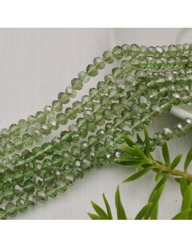 perline di cristallo cinese mezzi cristalli cipollotti 4.5 x 6 MM VERDE GHIACCIO 90 pz