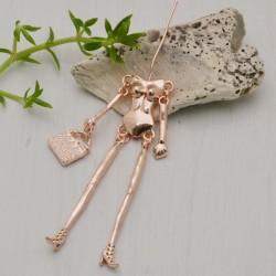 Base per corpo bambola Bambolina 20 x 80 mm col oro rosa per le tue creazioni