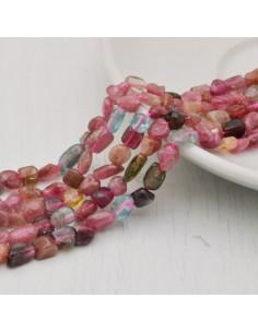 Pietre dure TORMALINA Sasso Burattato qualità di gioielli 5-7 mm filo 40cm