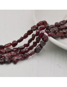Pietre dure granato  Sasso Burattato qualità di gioielli 5-7 mm filo 40cm