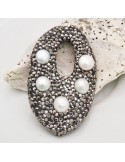 Marcasite e perle ciondolo forma particolare
