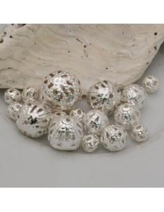 DISTANZIATORI pallina filigranate col argento in metallo per bigiotteria