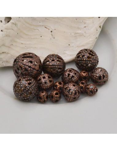DISTANZIATORI pallina filigranate col RAME per gioielli