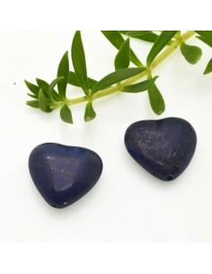 1 pz Lapislazzuli Cuore Piatto liscio 20 mm per orecchini bracciali collana gioielli