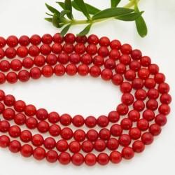 filo CORALLO DI BAMBÙ liscio rotondo 4.5 mm 90 pz orecchini bracciali collana gioielli