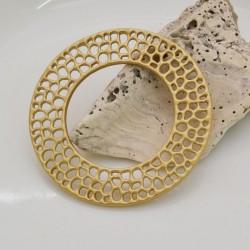 COMPONENTI zama TRAFORATI rotondo 50 mm col oro per fai da te