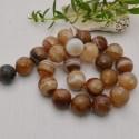 perla agata botswana sfaccettata tondo 16 mm filo 40 cm 25 pezzi per fai da te