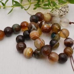 perla agata botswana sfaccettata tondo col mix 12 mm filo 40 cm 32 pezzi per fai da te