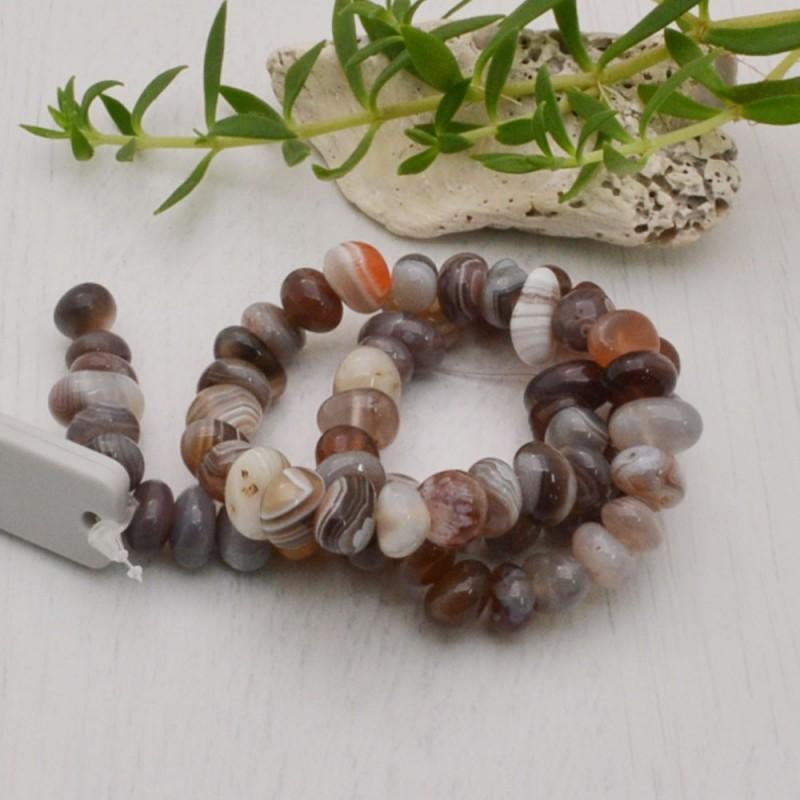 perla agata botswana sasso irregolare 6 x 10 mm filo 40 cm 47 pezzi per fai da te