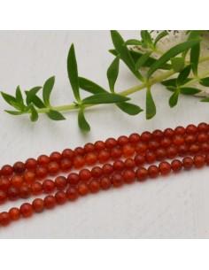 perla corniola liscio tondo 4 mm filo 40 cm 95 pezzi per fai da te