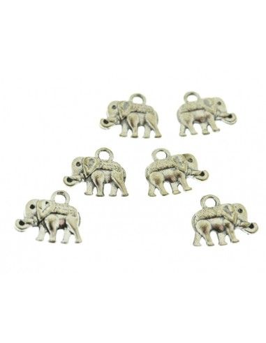 10 Pz. Ciondoli Elefantini