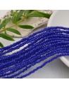 cristalli 1.5 x 2.5 mm sfaccettati cipollotti rondelle COL BLU filo circa 180 pz