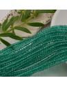 cristalli 1.5 x 2.5 mm sfaccettati cipollotti rondelle COL VERDE ACQUA filo circa 180 pz