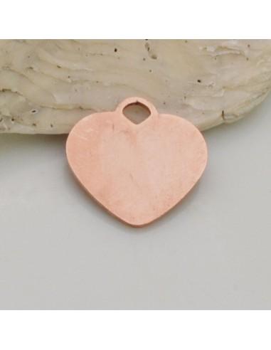 1 pz ciondolo cuore in acciaio 15 mm piatta liscio per fai da te