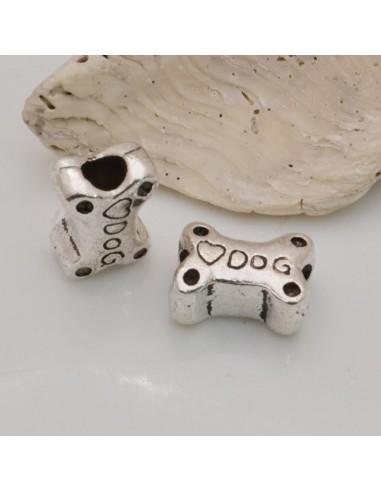 2 pz distanziatori Inframezzo foro largo forma di Osso Dog 14x10 mm