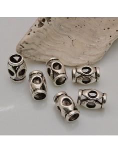 8pz DISTANZIATORI foro largo 7.5 x 11.5 mm col argento PER BRACCIALE COLLANA