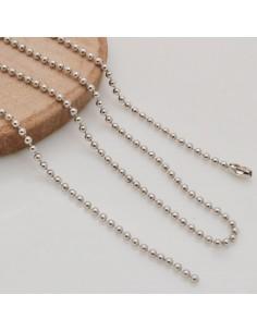 Base collana in argento 925 Catena pallina 1.5 mm ciondolo