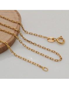 Base collana in argento 925 dorato CATENA FINE 1.5 mm misura 40cm ciondolo