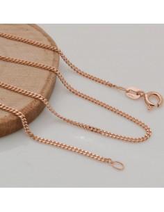 Base collana in argento 925 oro rosa catena fine liscio GROUMETTE 1.5 mm misura 40cm ciondolo