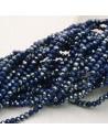 rondelle cristallo 3 x 4 mm briolette col blu scuro filo 150 pz per fai da te