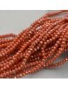 rondelle cristallo 3 x 4 mm briolette col arancione pesca filo 125 a 145pz per fai da te
