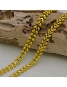 catena spina di pesce smaltato 6,5 mm in ottone col giallo fai da te