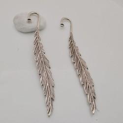 2 pezzi Segnalibri forma piume in metallo color argento per un idea regalo