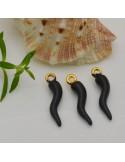 pz 1 ciondoli peperoncino smalto 6 x 23 mm colore varia per orecchini bracciale collana