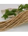 filo cristalli 2x 3 mm beige cipollotti Rondelle sfaccettato e briolette 200 pz
