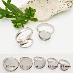 base anello in acciaio Inossidabile per cabochon misura interno ANELLO REGOLABILE per fai da te