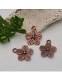 3 pz ciondoli rame antico forma fiori 16 x 19 mm fai da te