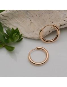 cerchio piccolo orecchino 15 mm liscio in ottone placcato oro base orecchini per ciondoli