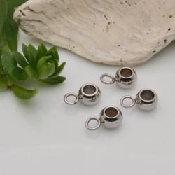 porta ciondolo in acciaio 6 mm con anellino 4 mm foro 3 mm 4 pz fai da te
