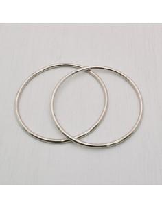 2 pz manici per borse Anello aperto col argento diametro 10 cm fatte a mano