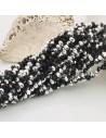 filo cristalli 3 x 4 mm argento /nero Rondelle sfaccettato 125 a 145pz per fai da te