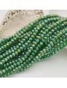 filo cristalli 3 x 4 mm verde AB Rondelle sfaccettato 125 a 145pz fai da te