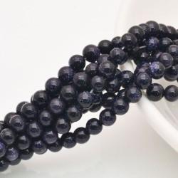 PIETRA DEL SOLE BLU SINTETICA rotonda liscio 4 mm circa 40 cm 96 pz per fai da te