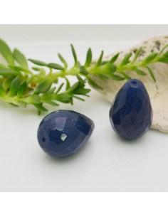 pietre dure a forma di goccia giada blu sfaccettata 13 x 18 mm fai da te