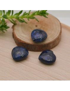 pietre dure a forma cuore 12 mm Lapislazzuli e Piatto liscio per fai da te