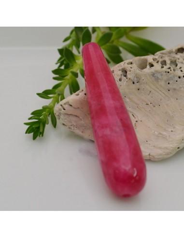 pietre dure a forma di goccia g. rubino sfaccettata 12 x 50 mm fai da te