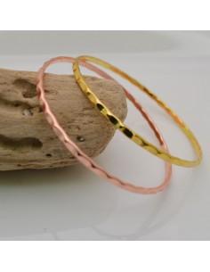 base bracciale rigido a cerchio con fantasia filo piatta 2.8 mm in ottone diametro 60 mm fai da te